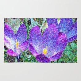 Purple Crocus Mosaic Rug