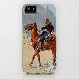 "Frederic Remington Western Art ""The Advance Guard"" iPhone Case"