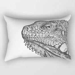 Iguana - Hand Drawn Rectangular Pillow