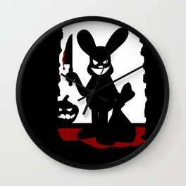 Bloody Rabbit Halloween version Wall Clock