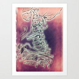 Trippy Vertebrae Art Print