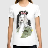 army T-shirts featuring Army Girl by Camis Gray