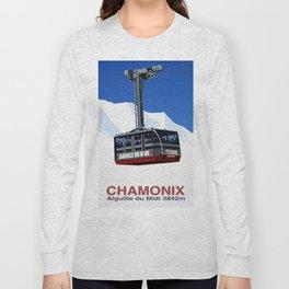 Chamonix Ski Resort , Aiguile du Midi Cable Car Long Sleeve T-shirt