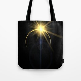 Eclipse lens flare Tote Bag