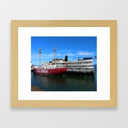 Riverboat Legacy and Fireship Columbia on Columbia River Framed Art Print
