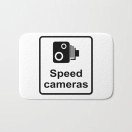 Speed Cameras Sign Bath Mat