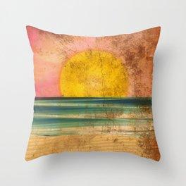 Ocean Sunset Vintage 2.0 Throw Pillow