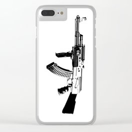 BLACK AK 47 Clear iPhone Case