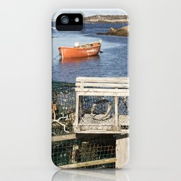 Boat and Lobster Traps iPhone Case