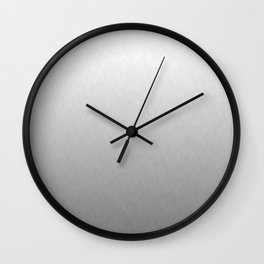 White to gray ombre flames Wall Clock