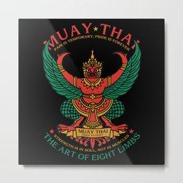 Muay Thai Sak Yant Garuda Metal Print