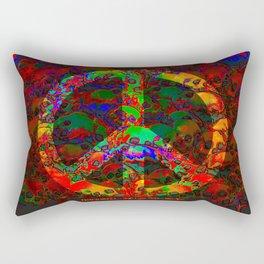 PEACE SKULLS Rectangular Pillow