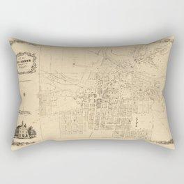 Map Of Ann Arbor 1854 Rectangular Pillow