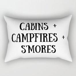 Cabins Campfire Smores Rectangular Pillow