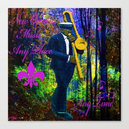 NEW ORLEANS JAZZ TROMBONE LET THE GOOD TIMES ROLL!! Canvas Print
