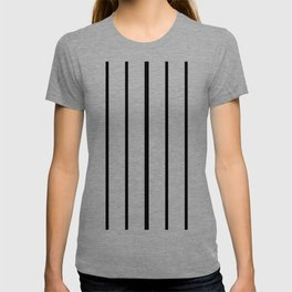 Simple Black and White Lines Decor T-shirt