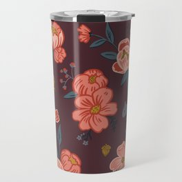 Floral Squirrel Travel Mug