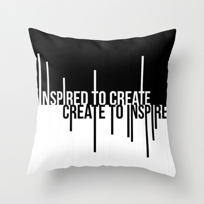 Create to Inspire Throw Pillow