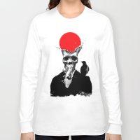 splash Long Sleeve T-shirts featuring SPLASH SKULL by Ali GULEC