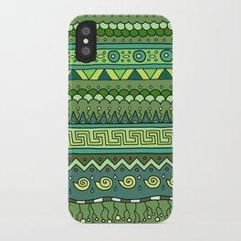 Yzor pattern 009 green-blue summer iPhone Case
