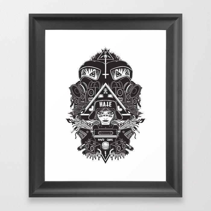 hard gore Framed Art Print