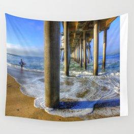 Goin' Surfin' Huntington Beach Pier Wall Tapestry