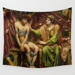 Hope Comforting Love in Bondage 1901 - Sidney H Meteyard - Reproduction from original under CC0 Wall Tapestry