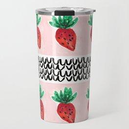 Abstract Strawberry Party Travel Mug