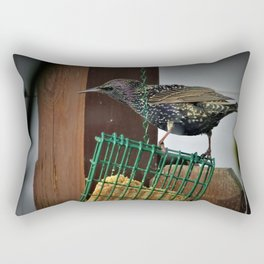 Determined Starling Rectangular Pillow