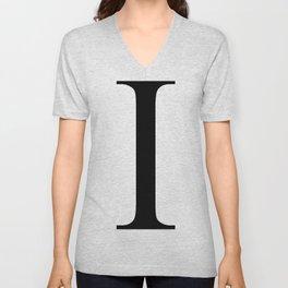 I letter Unisex V-Neck