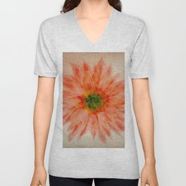 salmon flower Unisex V-Neck