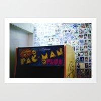 pac man Art Prints featuring Pac-Man by Javier F. Díaz