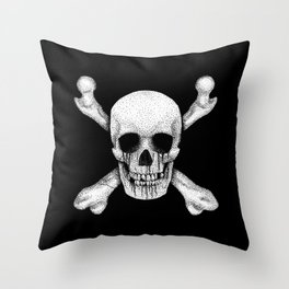 Jolly Roger Pirate Skull Flag Throw Pillow