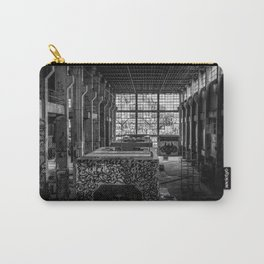Black and White Abandoned Building Photography Print Grunge Poster Carry-All Pouch