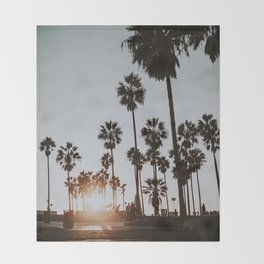 palm trees vi / venice beach, california Throw Blanket
