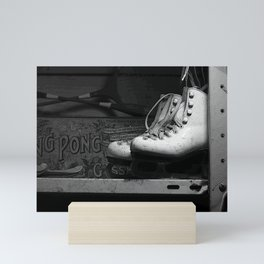 Vintge Skates-B&W Mini Art Print