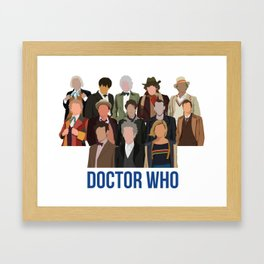Doctor Who Through the Years Framed Art Print