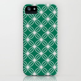 Abstract Circle Dots Green iPhone Case
