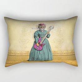 Tessy Tigress Shreds a Solo . . . Grrrrrr! Rectangular Pillow