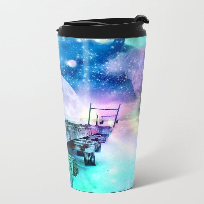 fantasy moon Metal Travel Mug