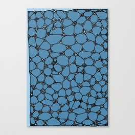 Yzor pattern 006 kitai blue Canvas Print