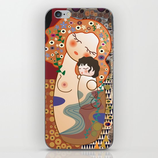 Kokeshi Mother&child iPhone & iPod Skin