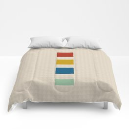 four elements || tweed & primary colors Comforters