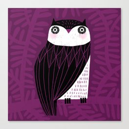 BLACK & WHITE OWL Canvas Print