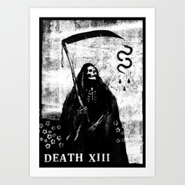 Tarot Card: Death XIII Art Print