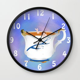 RxB Chipped Cup Wall Clock