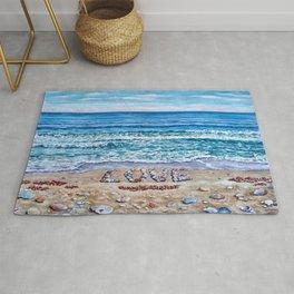 Ocean Waves of Love Rug