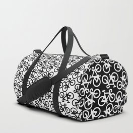 Black Bikes Pattern Duffle Bag