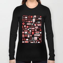 """""""Childhood Memories"""" pixel art poster Long Sleeve T-shirt"""