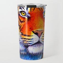 Colorful Bengal Tiger Portrait Travel Mug